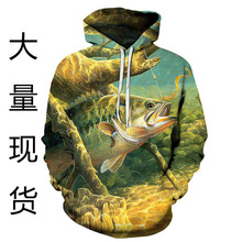 Anti Mosquito New Arrival 2019 Roupa Pesca 3 D Fish Series Printed Fleece Single Women Lovers Hooded Clothing Loose Big Yards