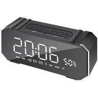 10W Portable Bluetooth Speaker Wireless Stereo Soundbar Support Time Display Alarm Clock Fm Radio
