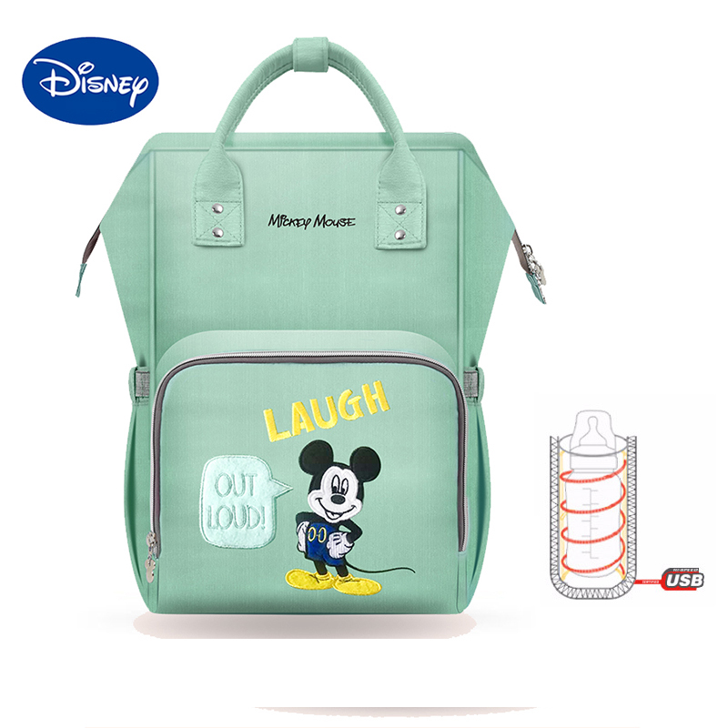 Disney 2019 New Style Waterproof Diaper Bags Large Capacity USB Oxford Cloth Maternity Nappy Bag Baby Milk Insulation Bags