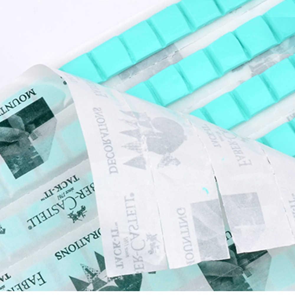 Señora reutilizable adhesivo arcilla azul tira de tachuelas multiusos pegamento adhesivo DIY Nail Art Sticky plastilina antiadherente arcilla de mano