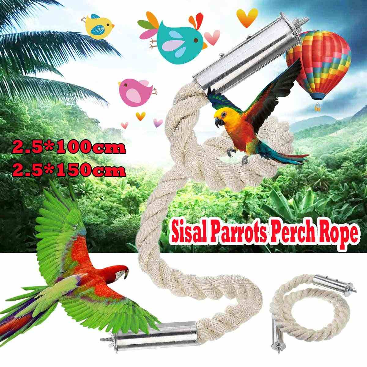 Large Parrot Toys For Macaw African Grey Big Parrot Toys Rope Bird Supplies Pet Bird Spiral Climbing Standing Perch