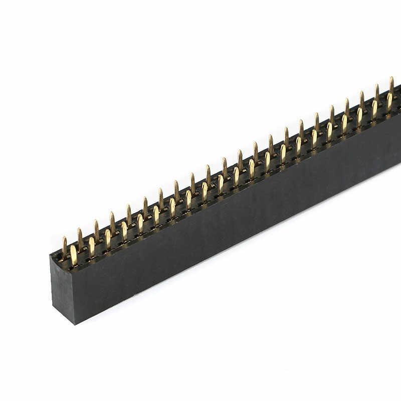 10 chiếc 2.54mm 2x2/3/4/5/6/8/10/ 12/16/40 Pin Stright Nữ Đôi Hàng Pin Đầu Dây PCB Cổng Kết Nối
