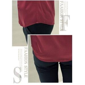 Image 2 - 한국어 패션 스타일 남자 셔츠 웨딩 드레스 긴 소매 빈티지 셔츠 실크 턱시도 탑 Chemise 남성면 셔츠 화이트