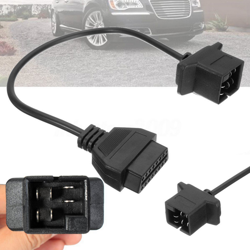 JX-LCLYL 6 Pin OBD To OBD2 Connector Adapter Cable Wire For Chrysler Jeep Dodge