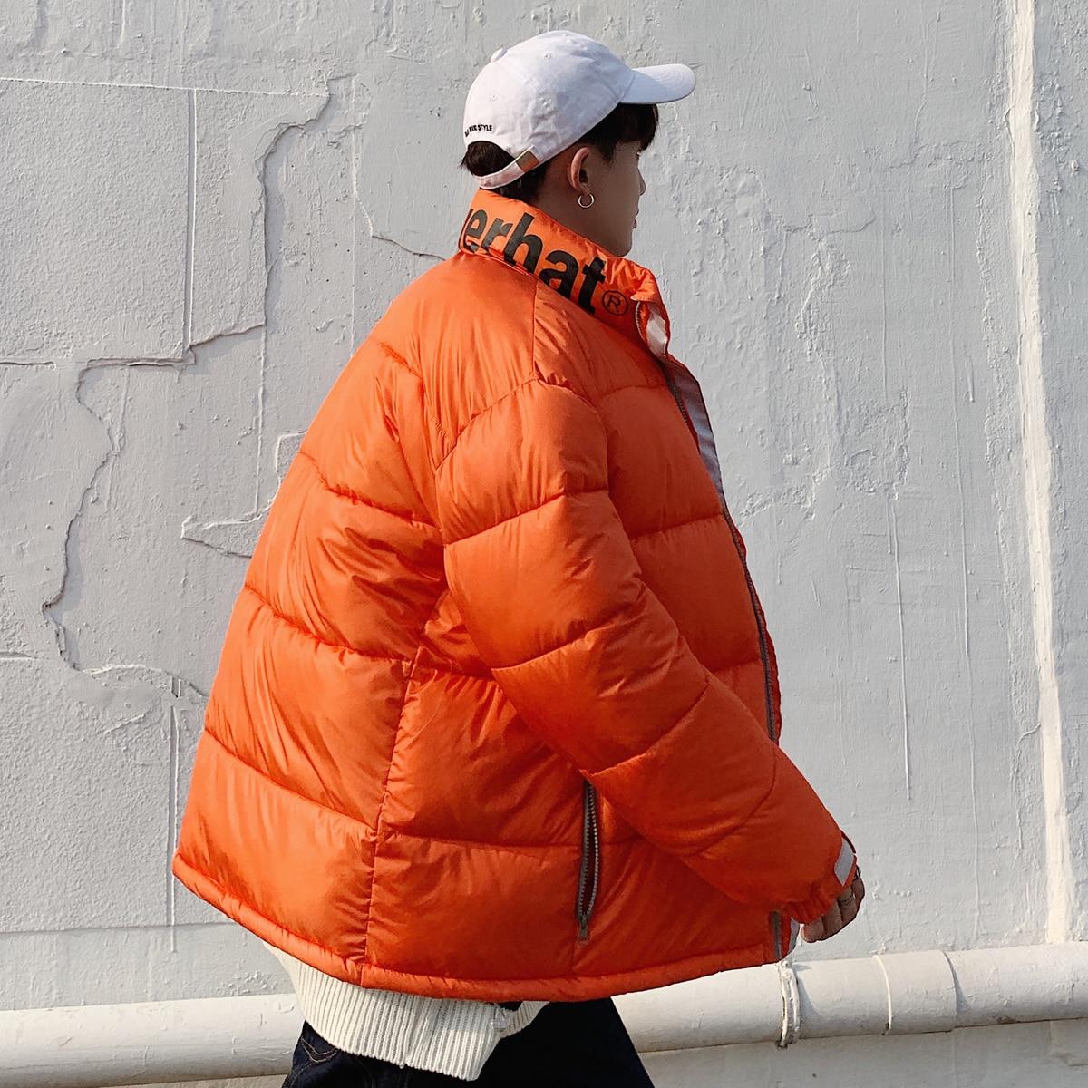 nacarat 2018 Montant Solide Impression Veste Lâche xl Hommes Lettre Col M rembourré Casual Couleur Manteau Coton green Outwear Black Vêtements Hiver Épaississent 7fO7nx1