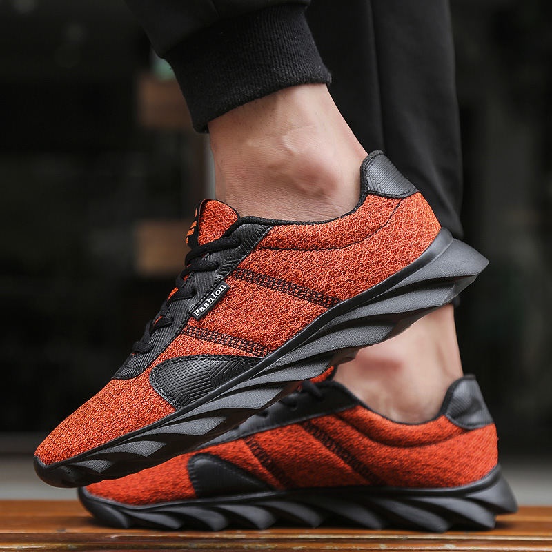 IMAXANNA New Breathable Running Shoe For Men 2019 Spring Non Slip Rubber Sole Sneaker Male Sport Lace Up Athletic Boys Plus SizeIMAXANNA New Breathable Running Shoe For Men 2019 Spring Non Slip Rubber Sole Sneaker Male Sport Lace Up Athletic Boys Plus Size