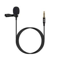 Lapela lapela clip on microfone microfone 3.5mm microfone de áudio para smartphone câmera computador portátil para gravação de vídeo entrevista