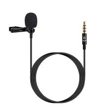 Yaka yaka klip mikrofon mikrofon 3.5mm ses mikrofon akıllı telefon kamera için bilgisayar Laptop için Video kayıt röportaj