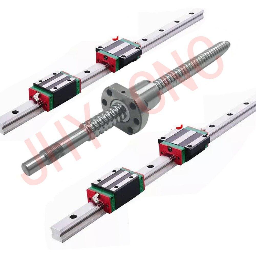 3 kits JHY linéaire rail profil guidage + 3 vis à billes vis à billes SFU type + 3 set BK/BF + 3 ballut Logement + 3 coupleurs
