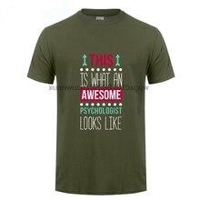 GILDAN 3XL Awesome Psychologist Psychology Men Boy Shirt Summer White Short Sleeve Custom Team T-shirts