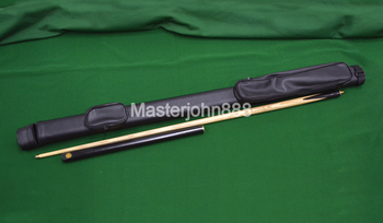 Pool Billiard Snooker Cue 3/4 Ash Wood Brass Joint Ash Shaft 10mm Tip With PU Leather Case Bag Free Shipping Wholesales