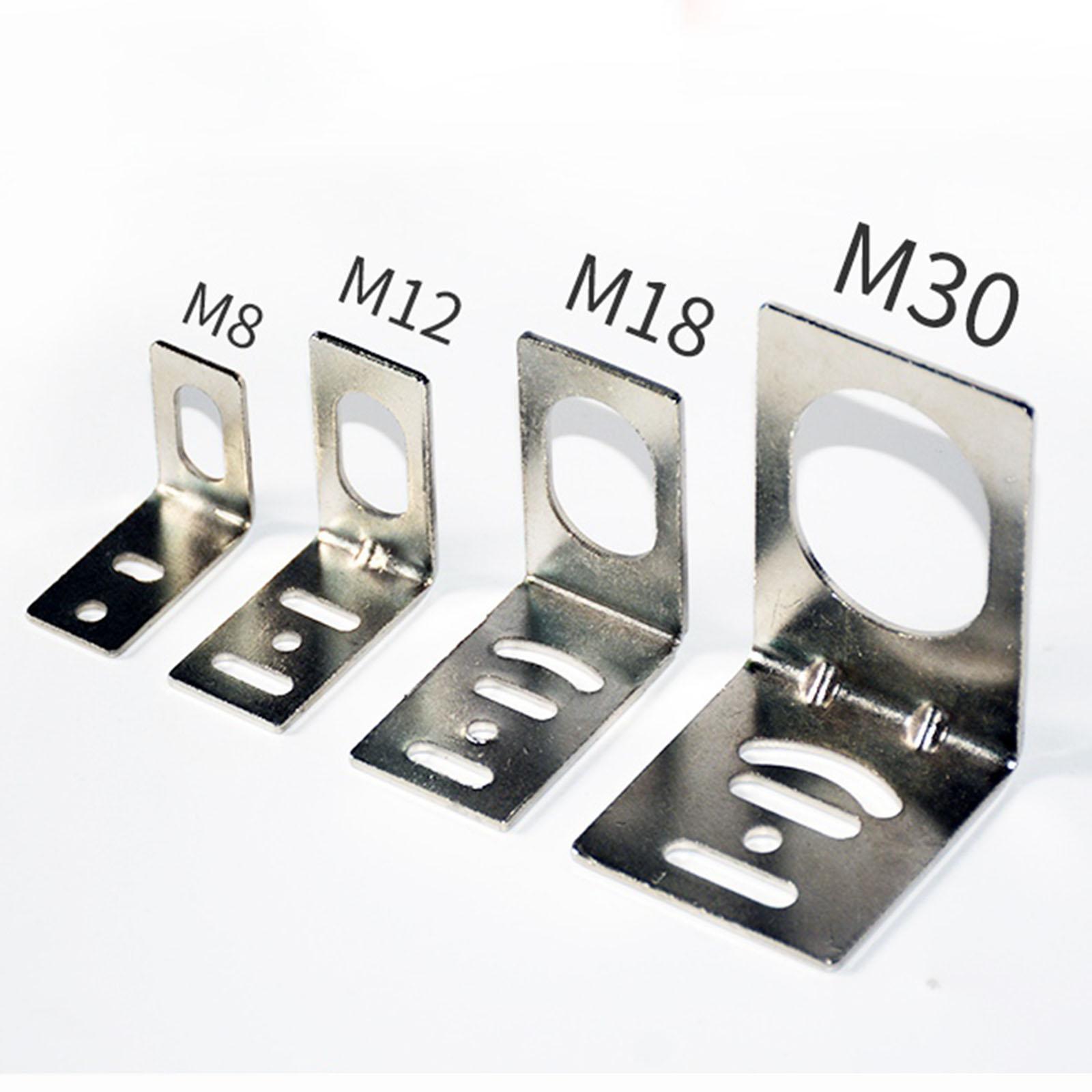 L Shaped Bracket Mount For M8/M12/M18/M30 Proximity Sensors Switch Support
