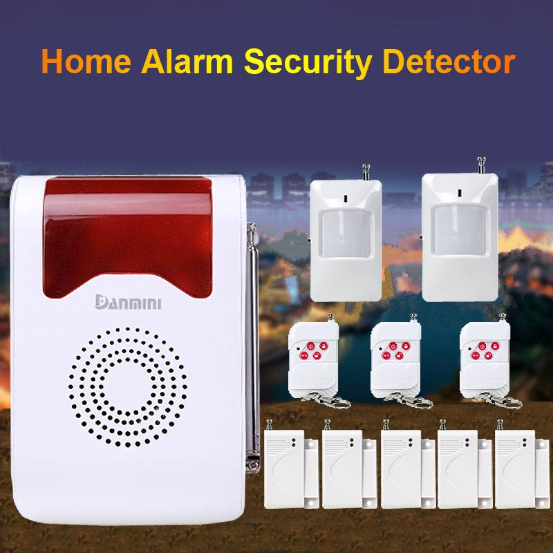 Home Security Alarm Detector Wireless Remote Infrared  Security Alarm System DIY KitHome Security Alarm Detector Wireless Remote Infrared  Security Alarm System DIY Kit