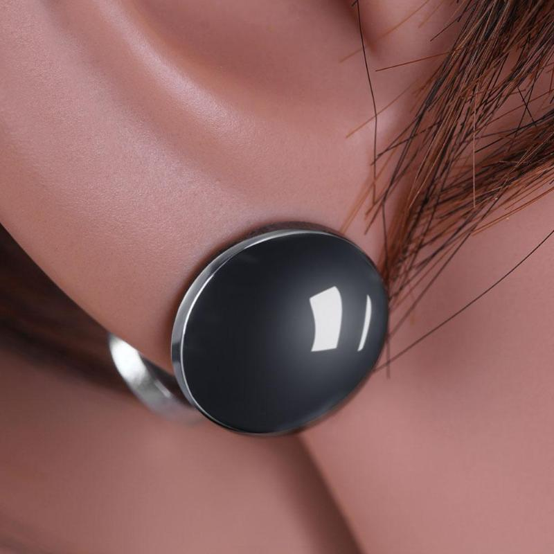 1pair Magnetic Ear Stud Healthy Loss Weight Slimming Magnets Clip Earrings Black Patch Lose Weight Magnetic Health Jewelry