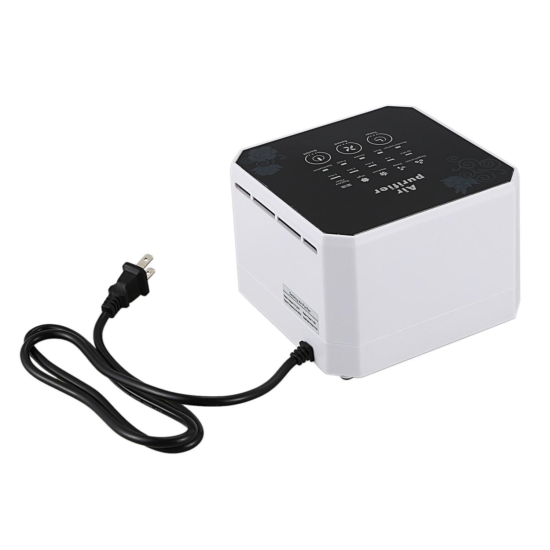 Negative Ion Generator Air Purifier Home Desktop Mini Air Ion Generator Compact Air Purifier Home US Plug, WhiteNegative Ion Generator Air Purifier Home Desktop Mini Air Ion Generator Compact Air Purifier Home US Plug, White
