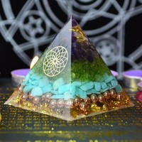 Reiki Healing Orgonite Pyramid Energy Converter Orgone Accumulator Stone That Changes The Magnetic Field Of Life Process Resin