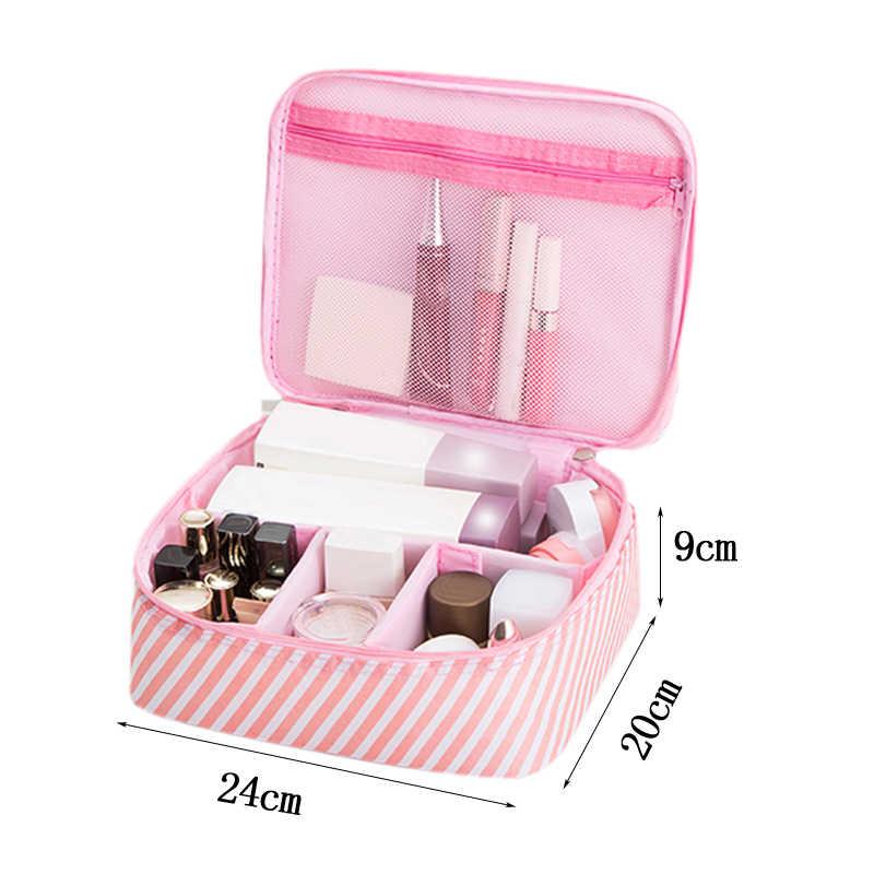 Kadınlar Flamingo kozmetik çantası makyaj çantası toz geçirmez güzellik tuvalet çanta yıkama kutusu bavul organizatör seyahat gerekli