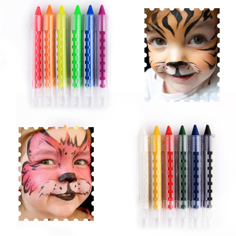 6 Colors DIY Kids Washable Face Painting Set High Quality Non-toxic Colorful Body Drawing Creatively Novel Watercolor Pigments
