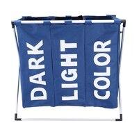 Laundry Basket Collapsible Laundry Basket Storage Bag Dark Blue Oxford Hamper Three Format Clothing Storage Bag