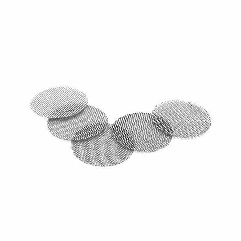 500 telas de tubulação de prata de aço inoxidável dos pces para a água acrílica de madeira do vidro do metal que fuma os filtros da tubulação do tabaco shisha/hookah