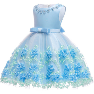 Image 3 - 0 24M Baby Girls Infant Party Vestidos Flower Tutu Dresses For Summer Party Baby Girls Clothes Sleeveless Princess Wedding Dress
