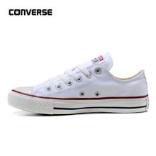 0e0076009 Converse Tất Cả Các Ngôi Sao Cổ Điển Canvas Low Top Trượt Ván Giày Unisex  Trắng Chống Trơn Trượt Sneakser 35-44