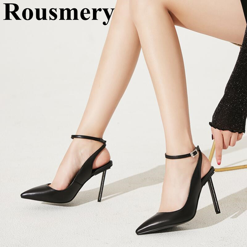 2019 Summer Fashion Hottest Pointed Toe And Buckle Strap Sexy Thin High Heel Three Color Sample Solid Women Sandals2019 Summer Fashion Hottest Pointed Toe And Buckle Strap Sexy Thin High Heel Three Color Sample Solid Women Sandals