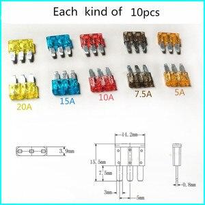 50Pcs/Set Fuse 3 Pins Automotive Car Fus
