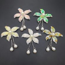 New handmade beaded sequin crystal flower hanging beads cloth accessories clothing shoes and hats diy accessories accessories