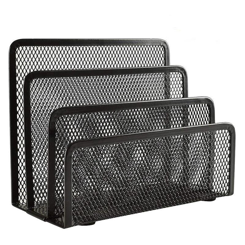Office & School Supplies Systematisch Schreibtisch Mail Veranstalter 2 Pack Büro Kleine Brief Sorter Desktop Datei Organizer Metall Mesh Mit 3 Vertikale Aufrecht Fächer Up-To-Date-Styling