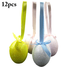 12PCS Easter DIY Foam Eggs Glitter Bubble Eggs DIY Decorative Eggs Easter Gifts Home Decoration Supplies 2019 New Arrive maisto машинка scramblin eggs