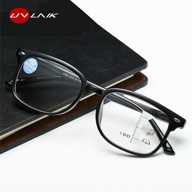 UVLAIK Progressive Multifocal Glasses Men Blue Light Blocking Reading Glasses Women Points for Reader Near Far Sight Diopter