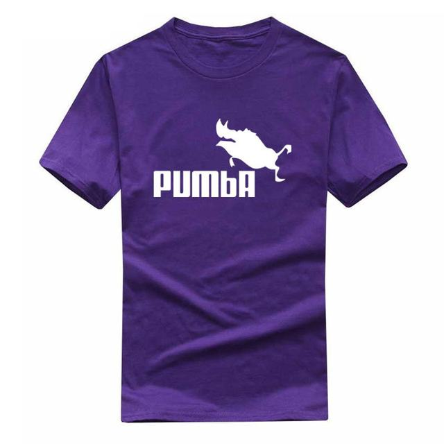 2019 New funny tee cute t shirts homme Pumba men women 100% cotton cool tshirt lovely cute summer jersey costume t-shirt