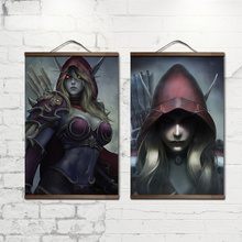 poster World of Warcrafts Lich King decoration painting Sylvanas Windrunner for HD  solid wood hanging scroll no frame