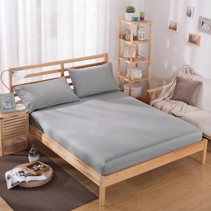 Fitted Sheet 100 Polyester Solid mattress covers With Elastic Band Bed Sheet Queen Size cover bed