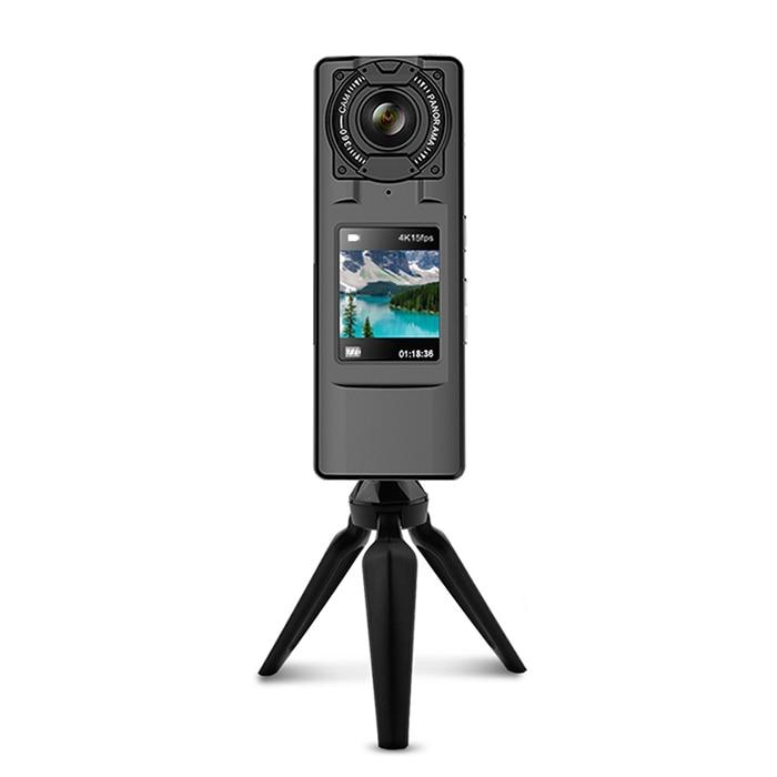 Amkov VR 360 De Poche 4 k WiFi 360 Degrés Panoramique Caméra Double HD Grand Angle Fisheye Lentille