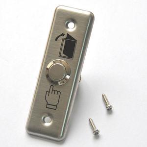 Image 1 - 92x28mm drzwi ze stali nierdzewnej przycisk z dzwonkiem przełącznik Panel dotykowy do kontroli dostępu dzwonek do drzwi Slim Exit Push Release