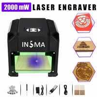 2000 mW USB Desktop CNC Laser Engraver DIY Logo Mark Printer Cutter Laser Engraving Machine Home Use 80x80mm Engraving Range