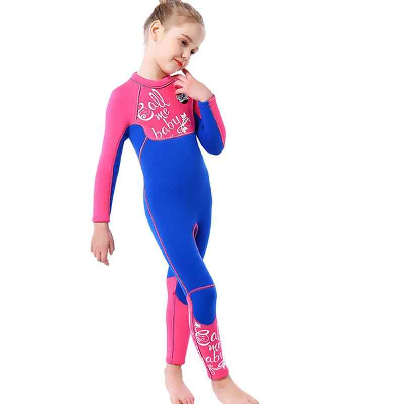 Kombinezon do nurkowania dla dzieci kobieta 3mm jednoczęściowy strój kąpielowy z długimi rękawami ciepły Surf Jellyfish odzież akcesoria do nurkowania kombinezon do nurkowania
