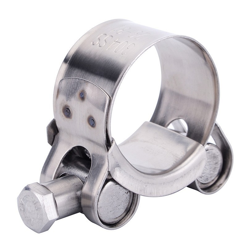 SPEEDWOW Stainless Steel Exhaust Clamp Exhaust Banjo Clamp Clip For Slip-on Type Motorcycle Muffler Silencer Car Accessories