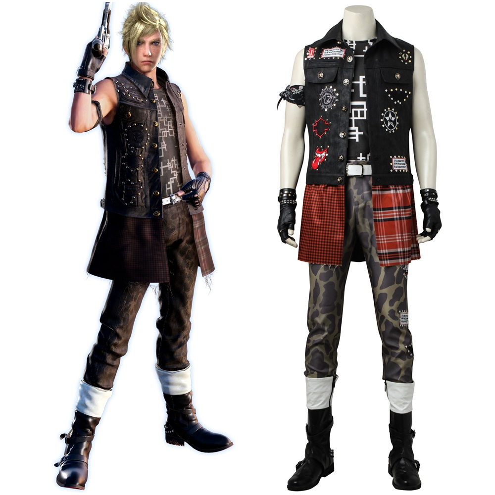 Final Fantasy XV FF15 Prompto Argentum Cosplay Costume Custom Made