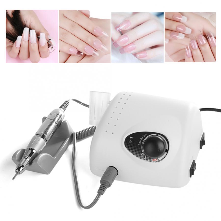 Pour ongles 3 Types 15 W 30000 tr/min perceuse à ongles électrique Machine de polissage lime à ongles peu manucure outils US ongles Accessoires