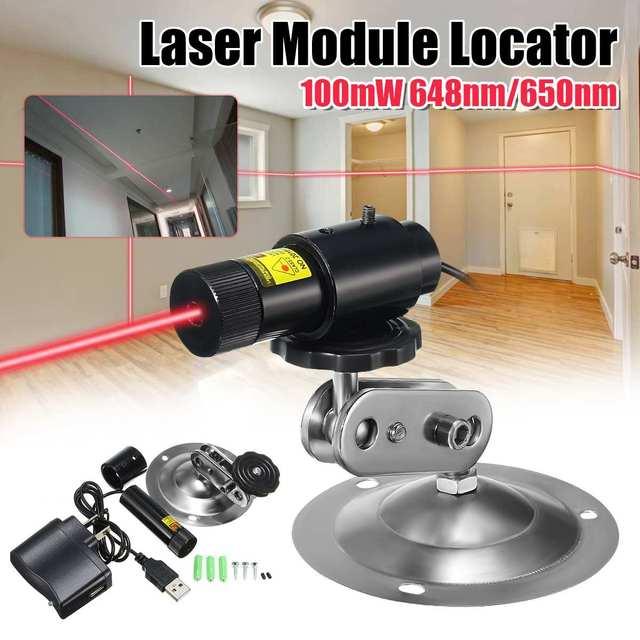 650nm 100 mw 레드 레이저 라인 모듈 로케이터 절단기 + 어댑터 및 마운트 산업용 목공 스톤
