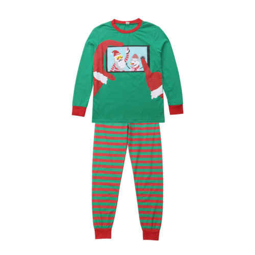 ... Family Matching Adult Women Men Kids Christmas Pyjamas Nightwear  Pajamas Snowman Long Sleeve Tops+Striped ... 8b604d511