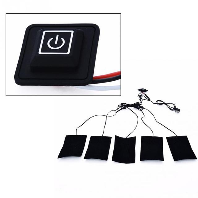 5 v 2A In Fibra di Carbonio Rilievo di Riscaldamento Scaldino della Mano del USB
