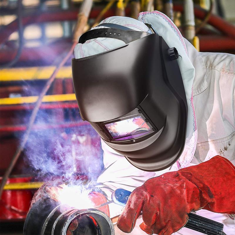 Solar Automatic Dimming Photoelectric Welding Mask Head-Mounted Argon Arc Welding Cap Welding Protective Helmet