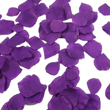 1000 шт шелковые лепестки роз украшения для свадебной вечеринки(фиолетовый