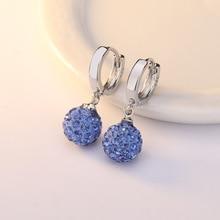S925 Sterling Silver sapphire Earrings for Women Perola Boucle D Oreille Perle Orecchini Perle Bizuteria Brincos Drop Earrings