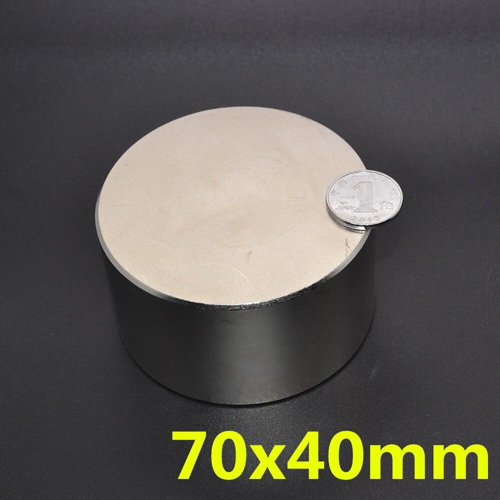 1 pcs 70*40mm super forte néodyme aimant N35 disque aimant permanent rare earth art processus néodyme fer bore aimant