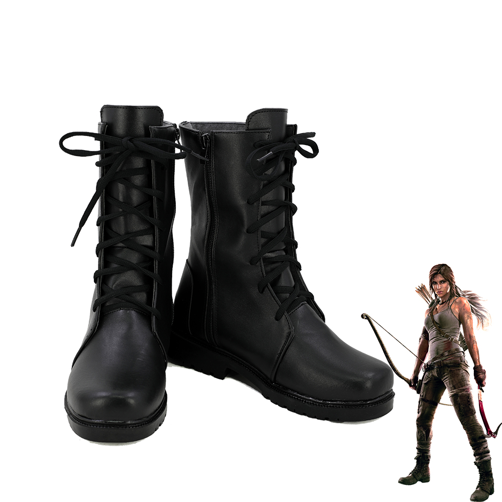 607a4195e Tomb raider lara croft women cosplay boots shoes customized size in shoes  from novelty special use